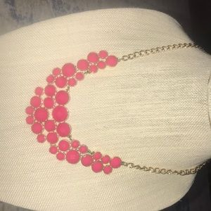 Vintage 20inch pink beaded and chain necklace